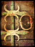 Grunge background with metal elements Stock Photo