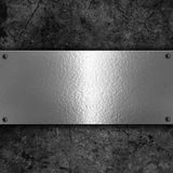 Grunge background with metal plate Stock Photography