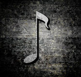 Grunge background with music note Stock Image