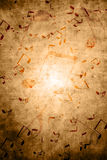 Grunge background with musical notes Royalty Free Stock Photography