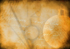 Grunge background with new year bubble. Brown background image with the texture of old paper and new year bubble stock illustration