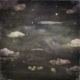 Grunge background of a night sky with clouds Stock Photos