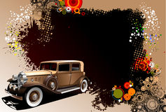 Grunge background with old car image Royalty Free Stock Photos