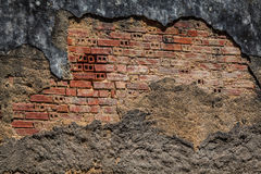 Grunge Background - Old Decaying Wall with Bricks Stock Photos