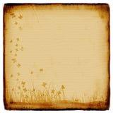 Grunge background, old paper. Pattern, flowers vector illustration