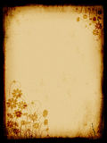 Grunge background, old paper, pattern. Flowers Stock Image