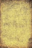 The texture of old yellow paper. Abstract grunge background. Grunge background of old paper for printing on labels, posters, business cards and creating your own Royalty Free Stock Photography