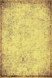 The texture of old yellow paper. Abstract grunge background. Grunge background of old paper for printing on labels, posters, business cards and creating your own Royalty Free Stock Image