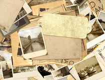 Grunge background with old photos Stock Photo