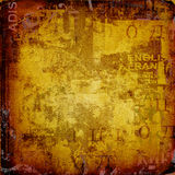 Grunge background with old  posters Stock Photography