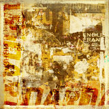 Grunge background with old torn posters Stock Photography