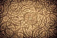 Grunge background with oriental ornaments Stock Images