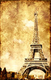 Grunge background with paper texture and landmark of Paris Royalty Free Stock Photo