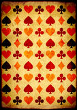 Grunge background with paper texture and playing cards symbol. S Royalty Free Stock Photo