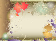 Grunge background with patches of color and light reflections. Paper cracked texture with color stains Royalty Free Stock Photo