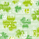Grunge  background for Patricks day with shamrock, vector Royalty Free Stock Photography