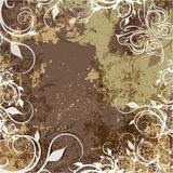 Grunge background with patterns Stock Photos