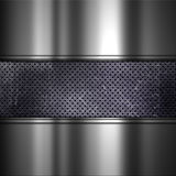 Grunge background with perforated dirty metal and brushed alumin Royalty Free Stock Photo