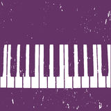 Grunge background with piano Stock Image