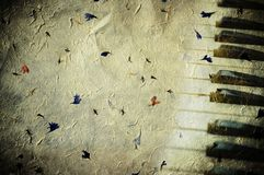 Grunge background with piano keys Royalty Free Stock Images
