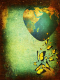 Grunge background-planet Earth Royalty Free Stock Photography