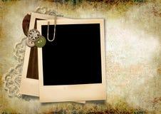 Grunge background with polaroid frame Stock Image