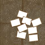 Grunge background with postage stamps for design Stock Image