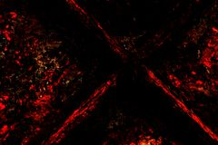 Grunge Background: The Red and the Black Stock Photo