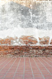 Grunge background, red brick wall texture Stock Images