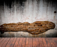 Grunge background, red brick wall texture bright plastered wall Stock Photography