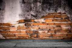Grunge background, red brick wall texture bright plastered wall Royalty Free Stock Photos