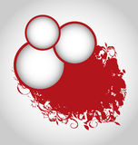 Grunge background with red circles Royalty Free Stock Images