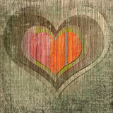 Grunge background with red heart in center Royalty Free Stock Images