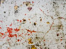 Grunge background with red and yellow paint splash. Great grunge texture. Grunge texture with color splash paint on the wall. Useful as grunge backdrop. Horror royalty free stock image