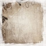 Grunge background with rose Royalty Free Stock Photography