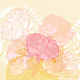 grunge background with roses Stock Photography