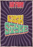 Grunge Background from the 1970s. Vector Backgrounds from the Seventies, Funk Style, Vibes and Disco vector illustration