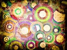 Grunge background with scratches. Grunge circles abstract background with stains and scratches Stock Image