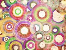 Grunge background with scratches. Grunge circles abstract background with stains and scratches Stock Photos