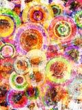 Grunge background with scratches. Grunge circles abstract background with stains and scratches Stock Photo