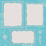 Grunge background. Set ornament frame Stock Photography