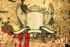 Grunge background with shield Royalty Free Stock Images