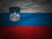 Grunge background Slovenia flag Royalty Free Stock Images