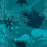 Grunge background with snowflakes Royalty Free Stock Images