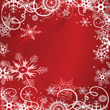 Grunge background with snowflakes Royalty Free Stock Photos