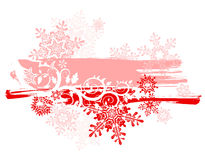 Grunge background & snowflakes Royalty Free Stock Image