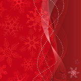 Grunge background with snowflakes in red colour Royalty Free Stock Photo