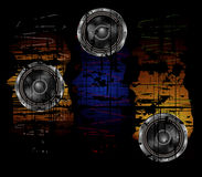 Grunge background with speaker Stock Photos