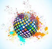 Grunge background with sphere Stock Photo