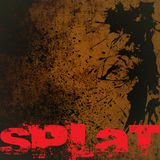 Grunge Background with Splat Text Stock Photos